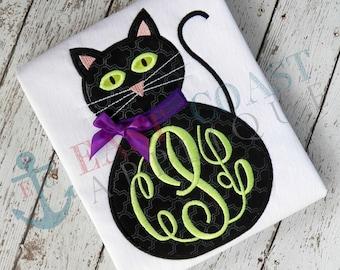 BLACK CAT machine embroidery design