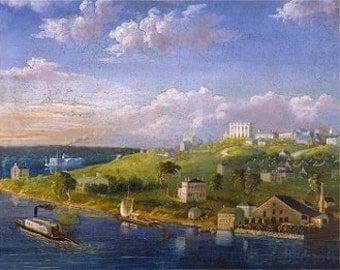 Early Nauvoo River Scene- Archival Print