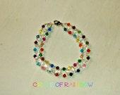 Swarovski Circle of Rainbow Bracelet Great Mother's Day Gift!