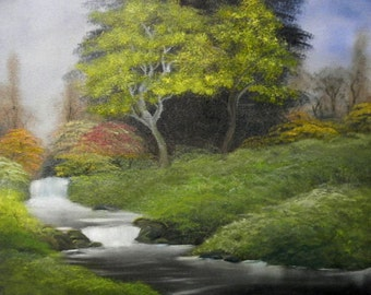 Quiet Stream Oil Painting