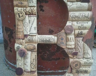 Wine Cork Letters - Custom Made A - Z
