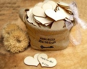 6cm Wooden Heart Natural Wood Heart Gift Tag Wedding Decoration Bridal Shower Escort Card Place Card Pack of 30 / 50 / 80 / 100 / 120 / 150