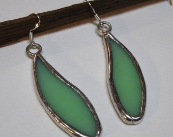 Handcrafted Stained Glass Bridal Earrings