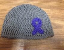 Hodgkin Lymphoma Awareness Ribbon hat