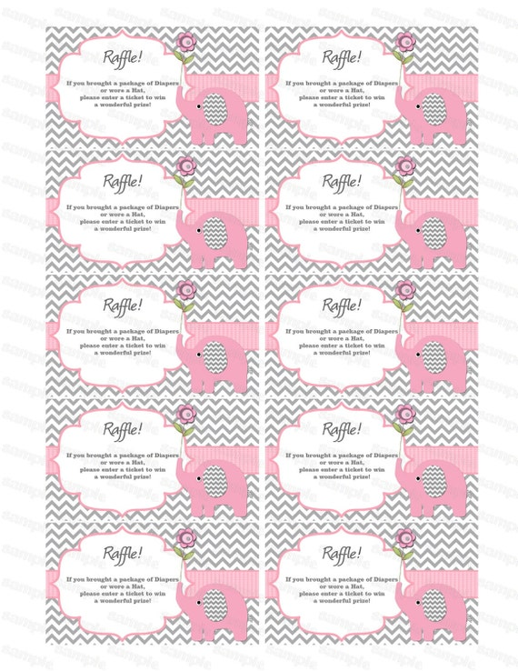 ... Diapers Raffles Baby Shower Games Printable Digital Files (50custom