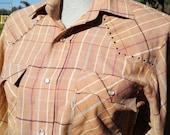 LEVIS Rhinestone Western Longsleeve Tapered Shirt sz M