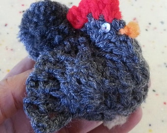 Vintage crocheted rooster egg cozy