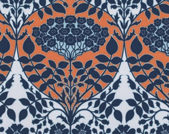 SALE Botanique Leafy Damask Apricot Fabric by Joel Dewberry for Free Spirit
