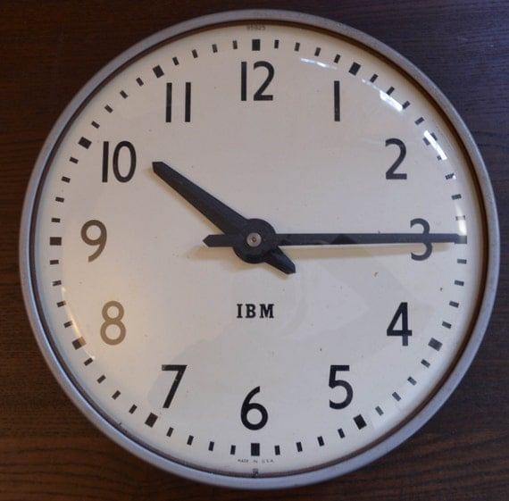 vintage large ibm wall clock schoolhouse warehouse factory master clock system