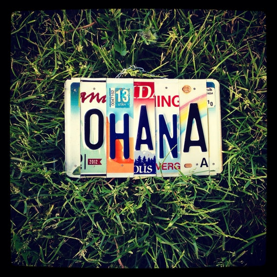 Ohana License Plate Art Made In Hawaii Hawaii Art Ohana