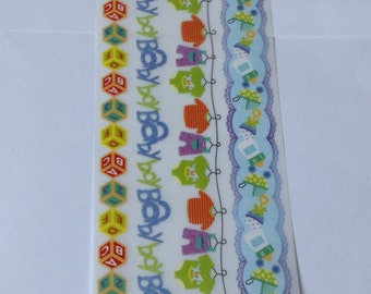 New for Scrapbooking Embellishment Rub-On Transfers Baby Boy Boarders