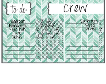 Chore Chart for Boys and Chore Chart for Girls,  Spouses Too!