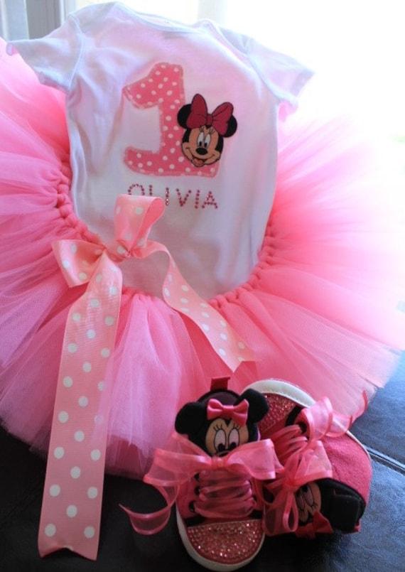 Minnie mouse ropa de Niñas conjunto de Niña por CuteCraftingCorner