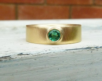 yellow gold emerald ring, emerald gold ring