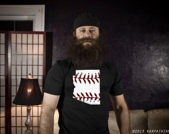 Arizona baseball t-shirt available in men's or ladies jr fit