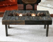 Pallet Wood Coffee Table with Trough