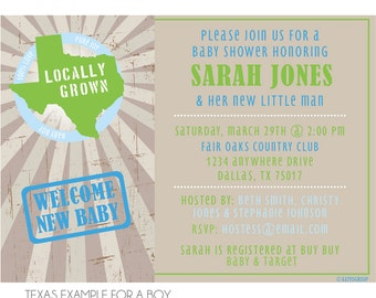 Locally Grown Baby Shower Invitation