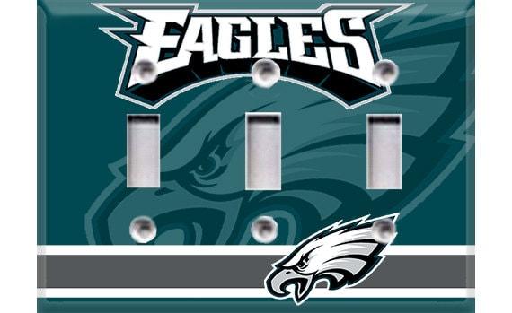 Philadelphia Eagles Triple Light Switch Cover By Crazy8zdecor