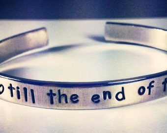 "Personalized Bracelet,  Engraved Bracelet, love, valentines, wedding gift, bridal, 1/4"""