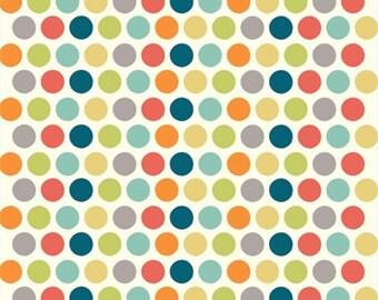 Multi Dot  Organic Cotton Birch Fabrics - 1/2 yard - by the half yard