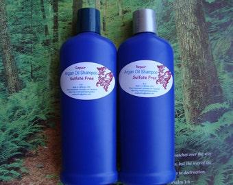 SL(E)S FREE Argan Oil Shampoo with Vitamin C For Dry/ Damage Hair,