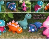 Forever Stitchin Extinction Pack - 5 Dinosaur Crochet Patterns