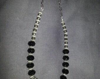 Black Mirror Ball Necklace