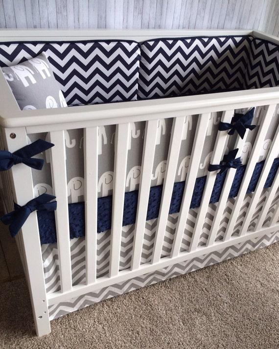 elephant crib beddingboy girl baby by custombebetextiles on etsy. Black Bedroom Furniture Sets. Home Design Ideas