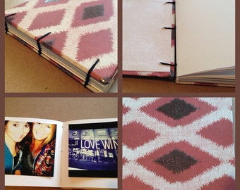 Red and Black Ikat 5x5 Instagram Photo Album