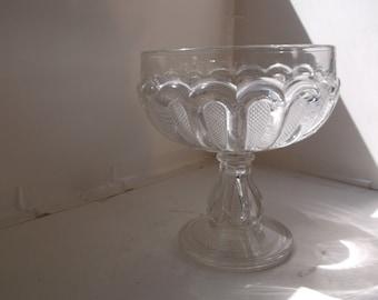 Vintage Dewdrop Compote