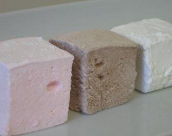 Neapolitan Marshmallow Collection - vanilla, chocolate, & strawberry gourmet marshmallows