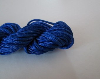 14 Yard Blue Thread, 2mm Knotting Cord, Dark Blue Nylon Cord, Nylon Thread, Great for Bracelet/Necklace