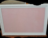 White And Pink Framed Pegboard