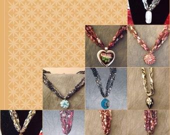 Crochet Pendant Necklaces
