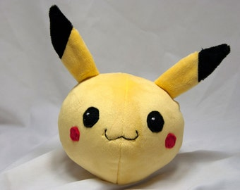 Round Pikachu Plush- Cute Pokemon Doll