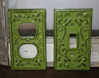 2 piece set - outlet plates / light switch cover / socket covers / outlet cover plates / electrical outlet covers