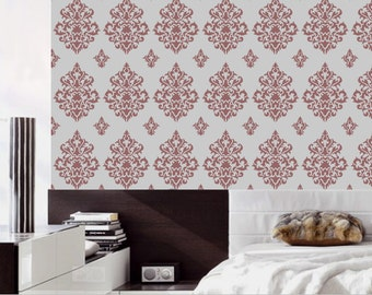 Reusable stencils for wall, damask wall stencil, DIY décor