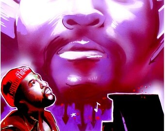 Marvin Gaye motown style hip hop pop soul art by hiecue