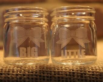 Big and Little Mason Jar Shot Glasses