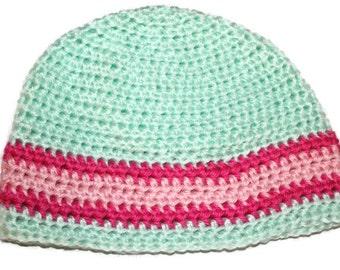 18 24 Mo Green Crochet Toddler Warm Winter Beanie Hat