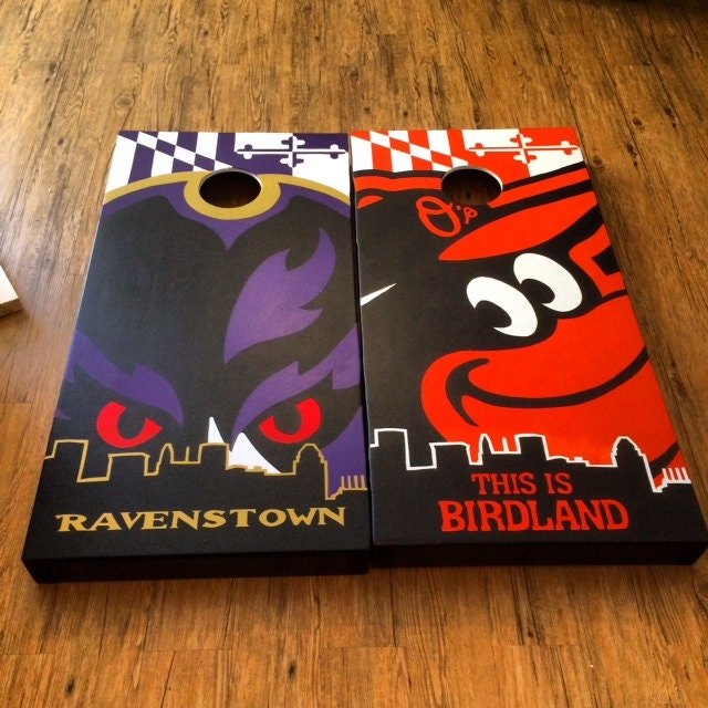 Ravens Cornhole Boards