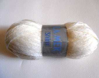 Destash Yarn - La Mer Shiny - Off White (Cream)