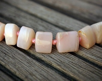 Pink Opal 6-16mm triangular prism beads (ETB00636)