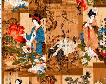 Crane Dynasty by Nobu Fujiyama.  Cranes, Geishas, bamboo.