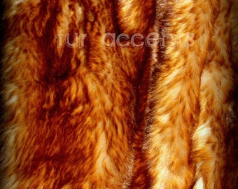 Faux Fur Fabric Exotic Red Fox Pelt Shaggy Fun Fur Baby Photography Prop, Craft, Sewing, Supplies