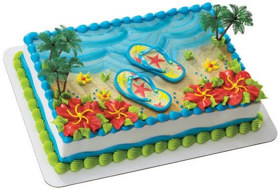 Dollarama Cake Decorating Kit : Flip Flops Cake Decorating Kit by ABirthdayPlace on Etsy