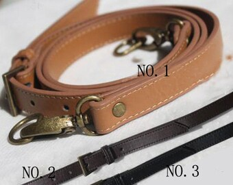 leather long bag strap,cross body bag strap,black/brown strap