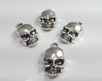 20  pcs Metal Skull Charms- Sugar Skull  Charms-Gothic skull Charms - 20 mmx  9 mm- C2085