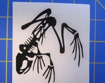 Skeleton Frog Decal - Sticker 3x3 Any Color