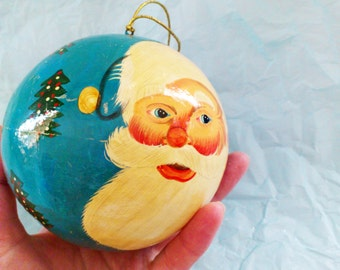 Vintage Hand Painted Christmas Ball Decorated